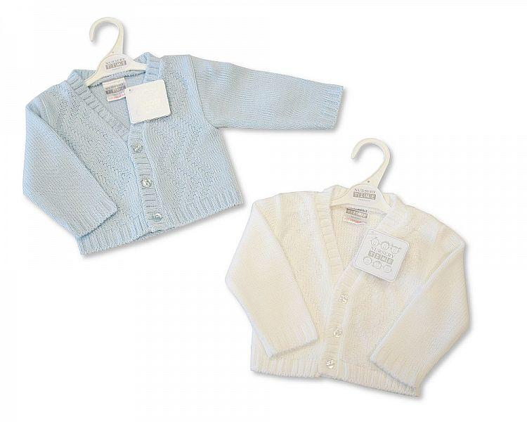 Knitted Baby Boys Cardigan - NB/6M - (Bw-10-555)