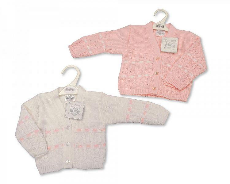 Knitted Baby Girls Cardigan - 6/24M - (Bw-10-556a)