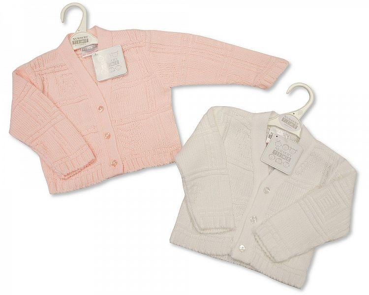 Knitted Baby Girls Cardigan - NB/6M - Bw-10-557 - Kidswholesale.co.uk