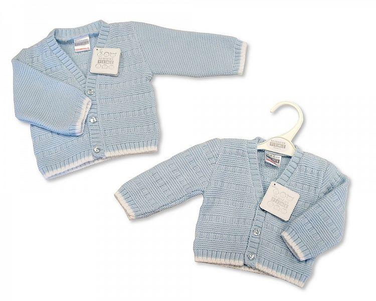 94bcd98e8 Knitted Baby Boys Cardigan - Sky - 6 24M - (BW-10-559A ...