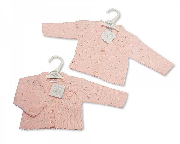 Knitted Baby Girls Cardigan - 6/24M - (BW-10-565A)