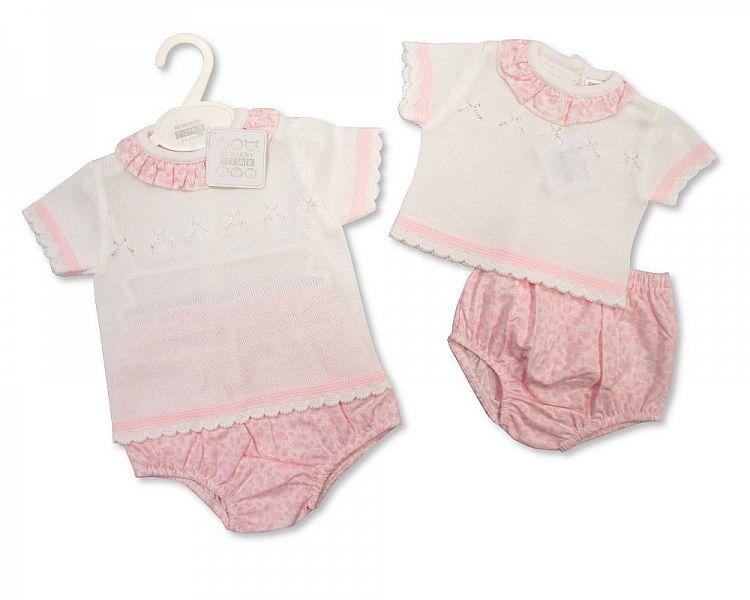 Knitted Baby Girls 2 pcs Set - 811 (0-9 Months) Bw-10-811