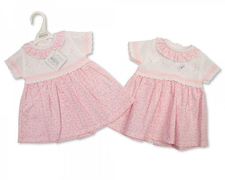 Knitted Baby Girls Dress - 812 (0-9 Months) Bw-10-812