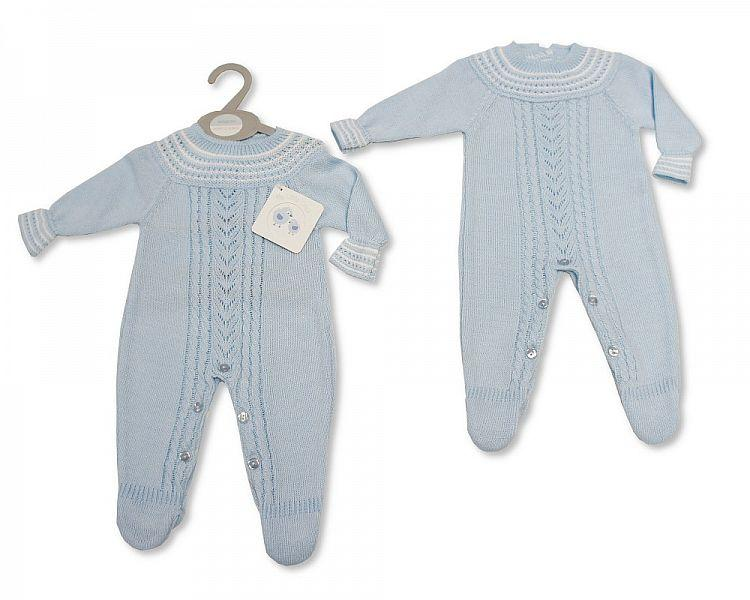 Knitted Baby Boys Long Romper - 924 (0-9 Months) Bw-10-924
