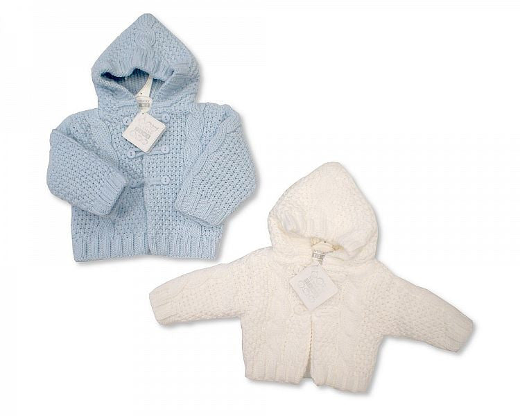 Knitted Baby Boys Pram Coat - 609