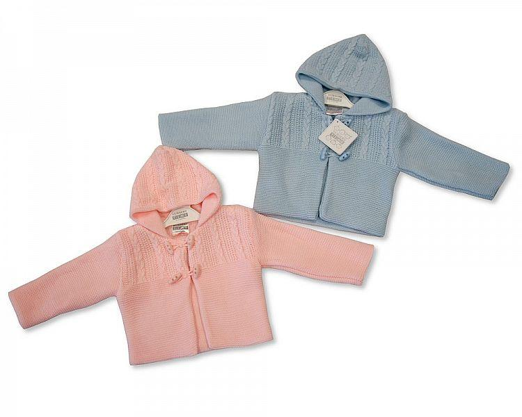 Knitted Baby Pram Coat P/S (BW-1016-625) - Kidswholesale.co.uk