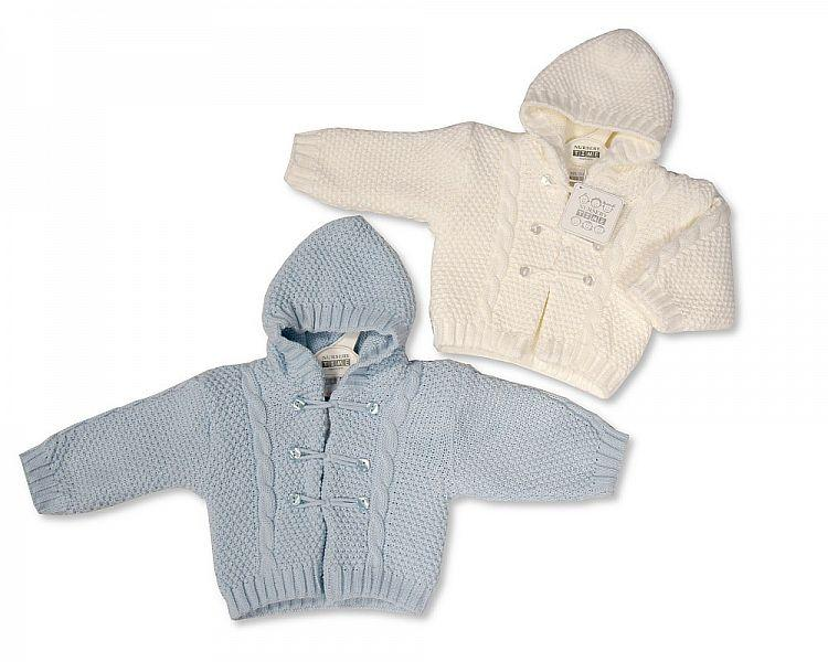 Knitted Baby Pram Coat W&S 0-6M (BW-1016-629) - Kidswholesale.co.uk