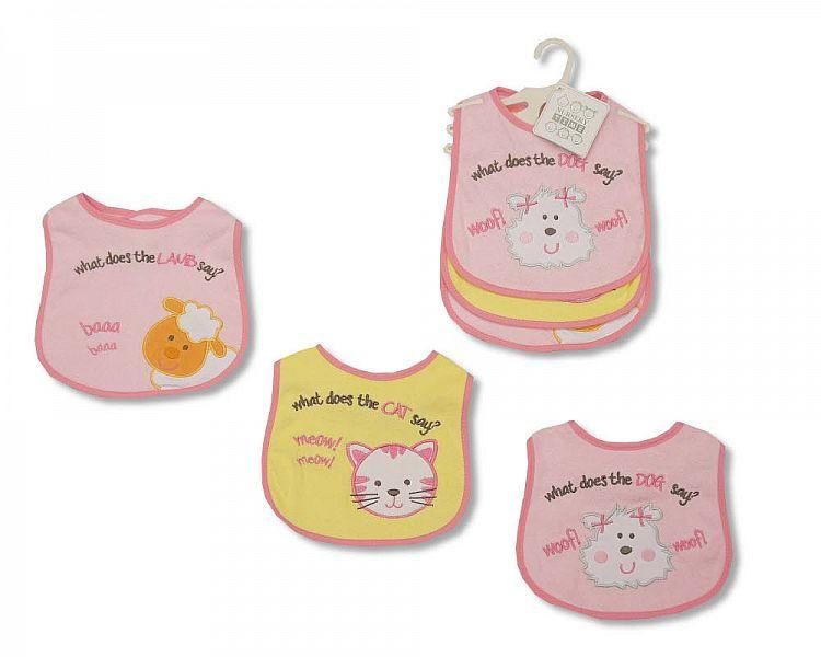 Baby Bibs Girls - Packs of 3