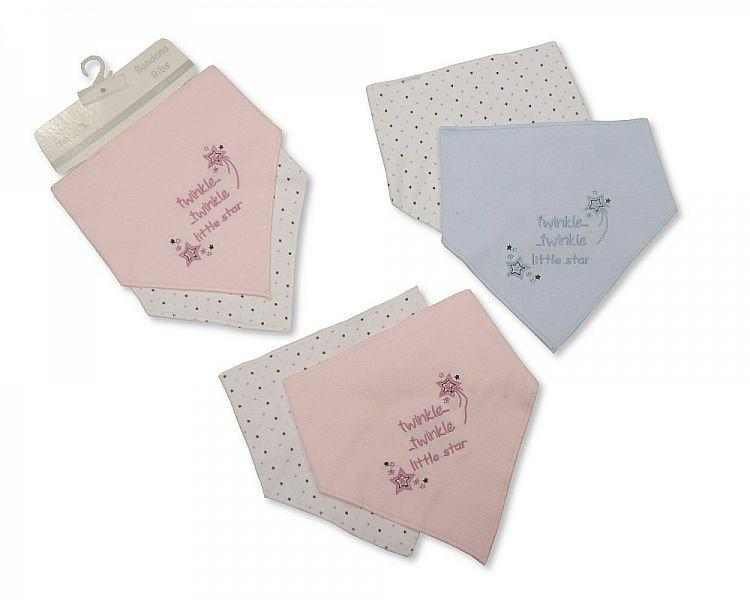 Baby Bandana Cotton Bibs 2 Pack - Twinkle Twinkle Little Star