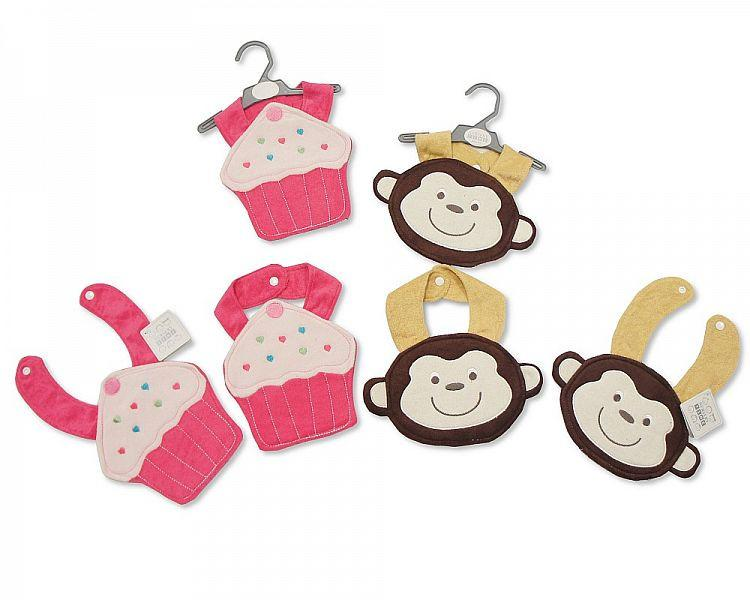 Baby Bibs - Cup Cake/ Monkey