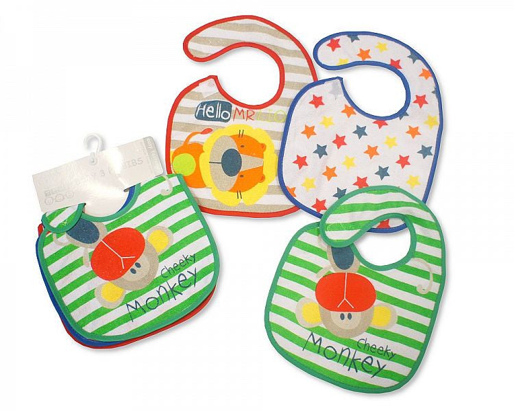 Baby Velcro Bibs - Robot and Bird