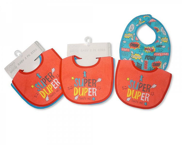 Baby Bibs Boys with PEVA Back - 2 Pack