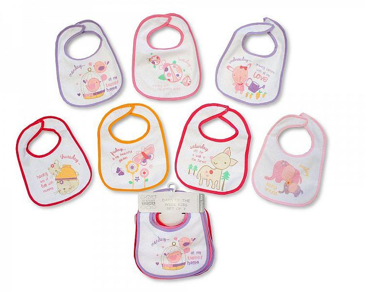 Baby Days of the Week Bibs - Girls - (BW-104-730)