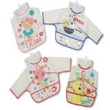 Baby Sleeved Clear PEVA Bibs