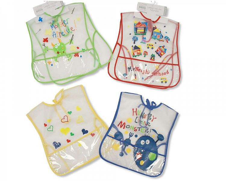 Baby Large Tie-on Clear PEVA Bibs