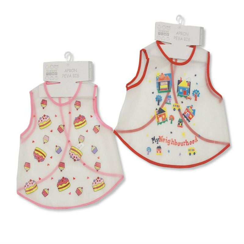 Baby Girls Large Clear PEVA Bibs