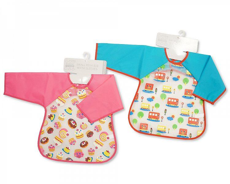 Baby PEVA Bibs with Sleeves - Bus/ Cakes [BW-104-813]