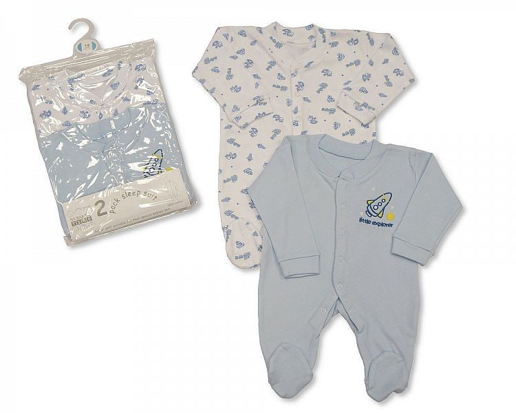 Boys 2-Pack Sleepsuit