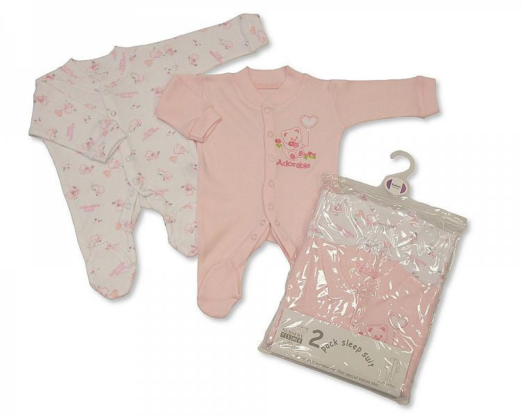 GIRLS 2-PACK SLEEPSUIT