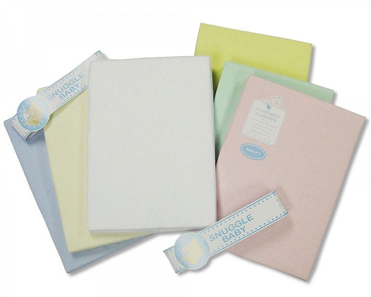 Flannelette Pram Sheet- 2 Pack