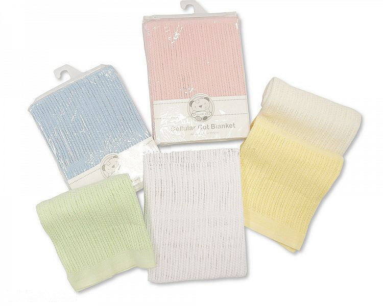 Cellular Cotton Cot Blanket