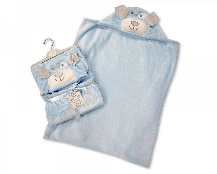 Baby Hooded Wrap - Blue