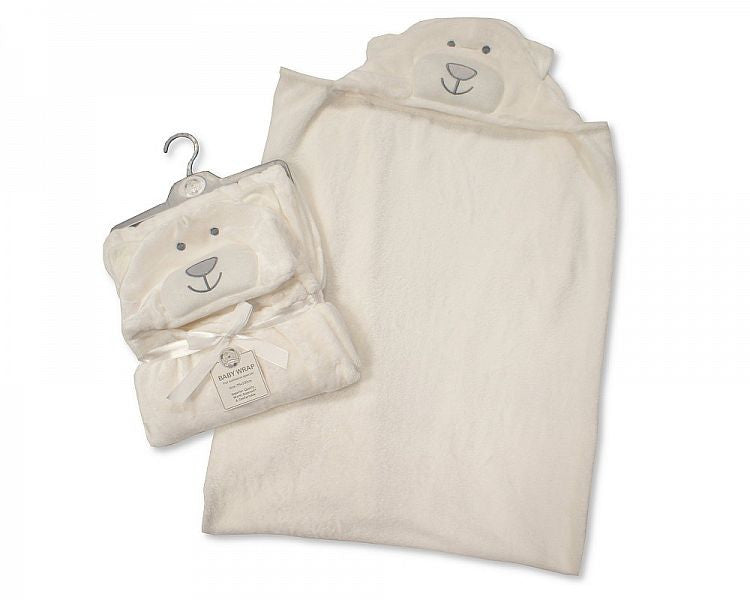 Baby Hooded Wrap - Cream