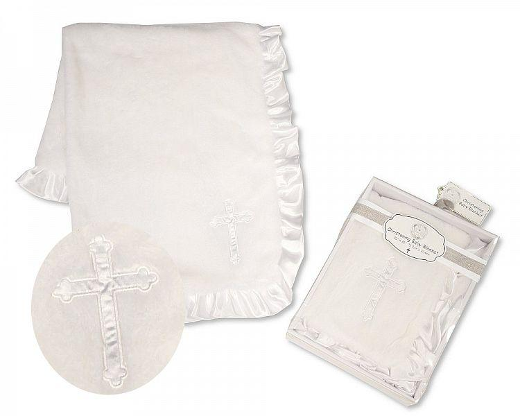 Baby Christening Blanket with Applique