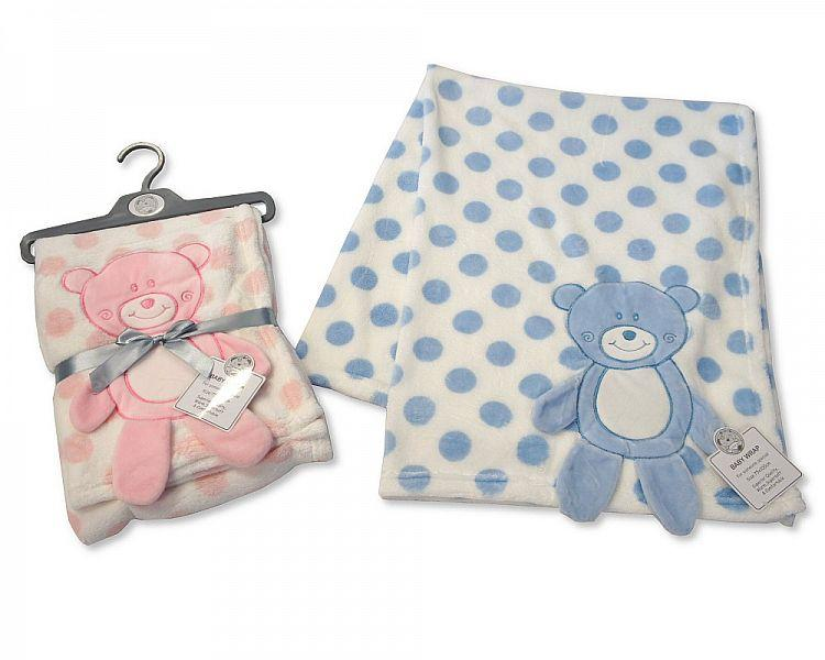 Baby Wrap with Large Teddy Applique