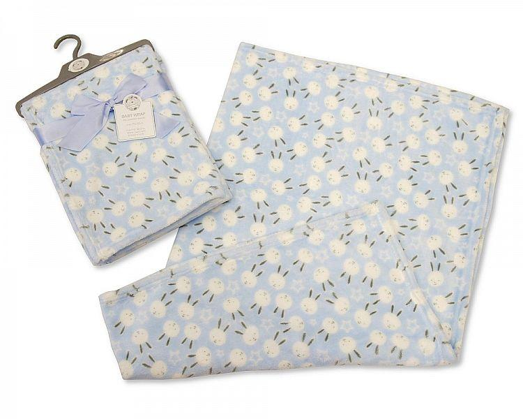 Sky Blue Baby Wrap - Bunny - Boys (BW-112-966S) - Kidswholesale.co.uk