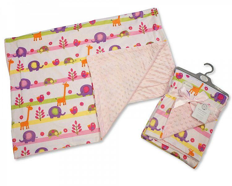 Baby Girls Reversible Wrap - Animals