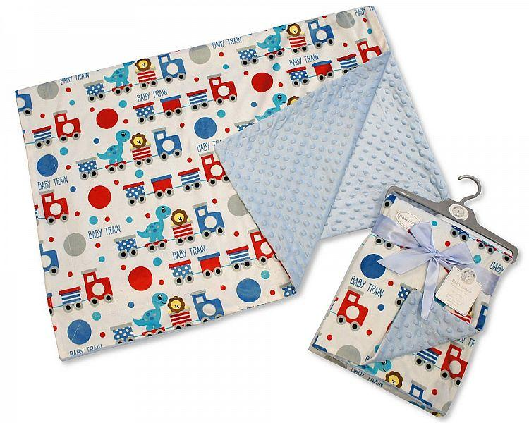 Baby Boys Reversible Wrap - Baby Train