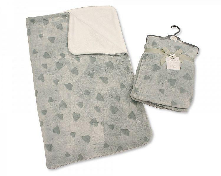 Supersoft Baby Wrap - Hearts - Kidswholesale.co.uk