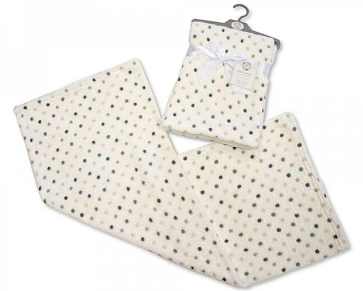 Printed Baby Wrap - Dots - Kidswholesale.co.uk