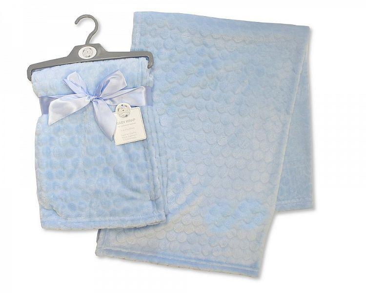 Embossed Baby Wrap - Circles - Sky Blue - (BW-112-987S)
