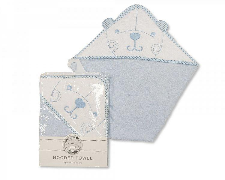 Baby Teddy Hooded Towel Blue BW-120-076