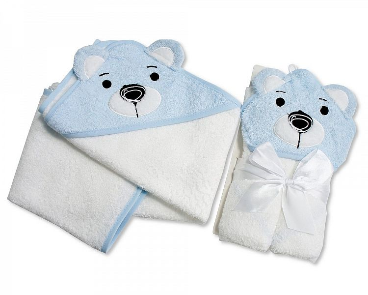 Baby Hooded Towel - Bear - Boys