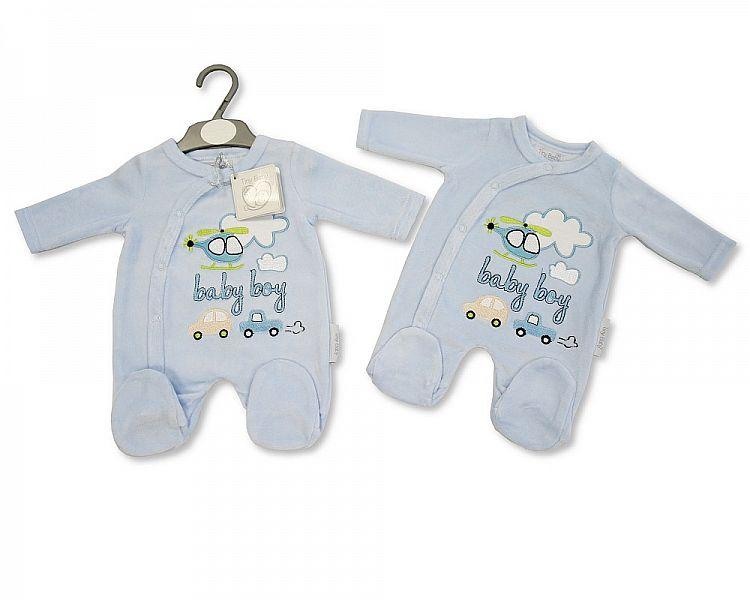 Tiny Baby Velour All in One - Baby Boy - Kidswholesale.co.uk