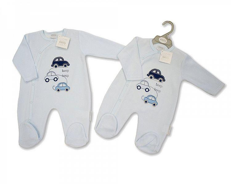 Baby Boys Velour All in One - Cars