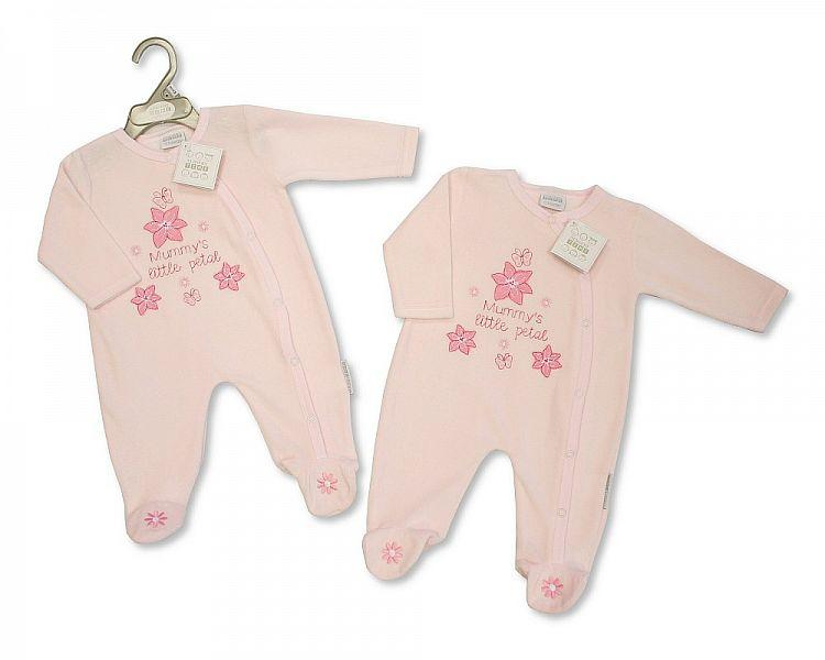 Baby Girls Velour All in One - Little Petal