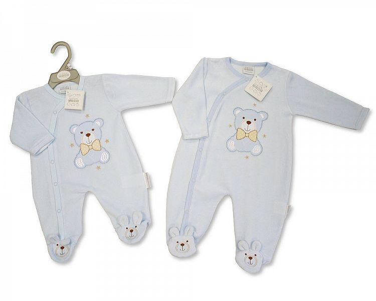 Baby Boys Velour All in One - Teddy