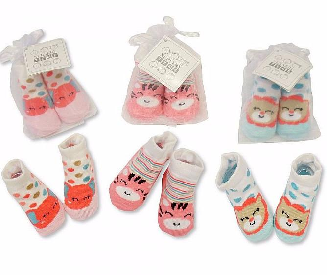Baby Girls Socks in Mesh Bag (Bw-6115-2133a)