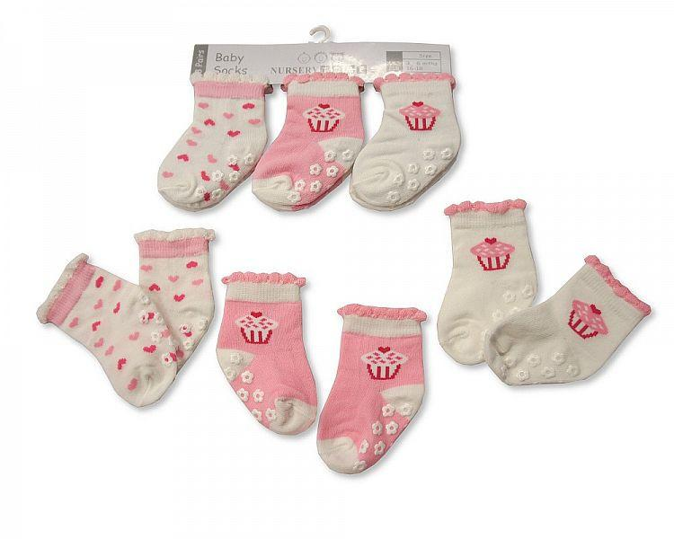 Baby Girls Anti-Slip Socks - 2143