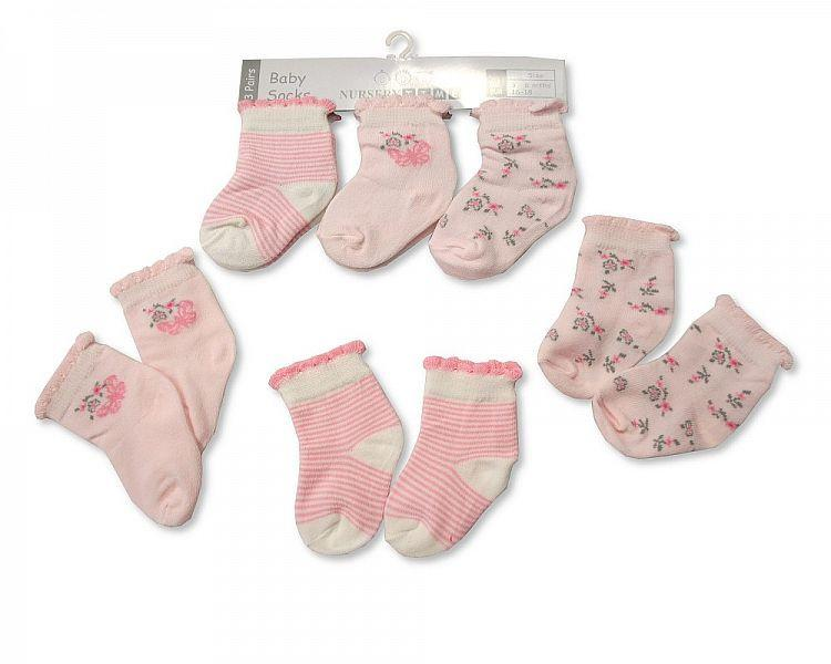 Baby Girls Socks-Bw-6116-2145