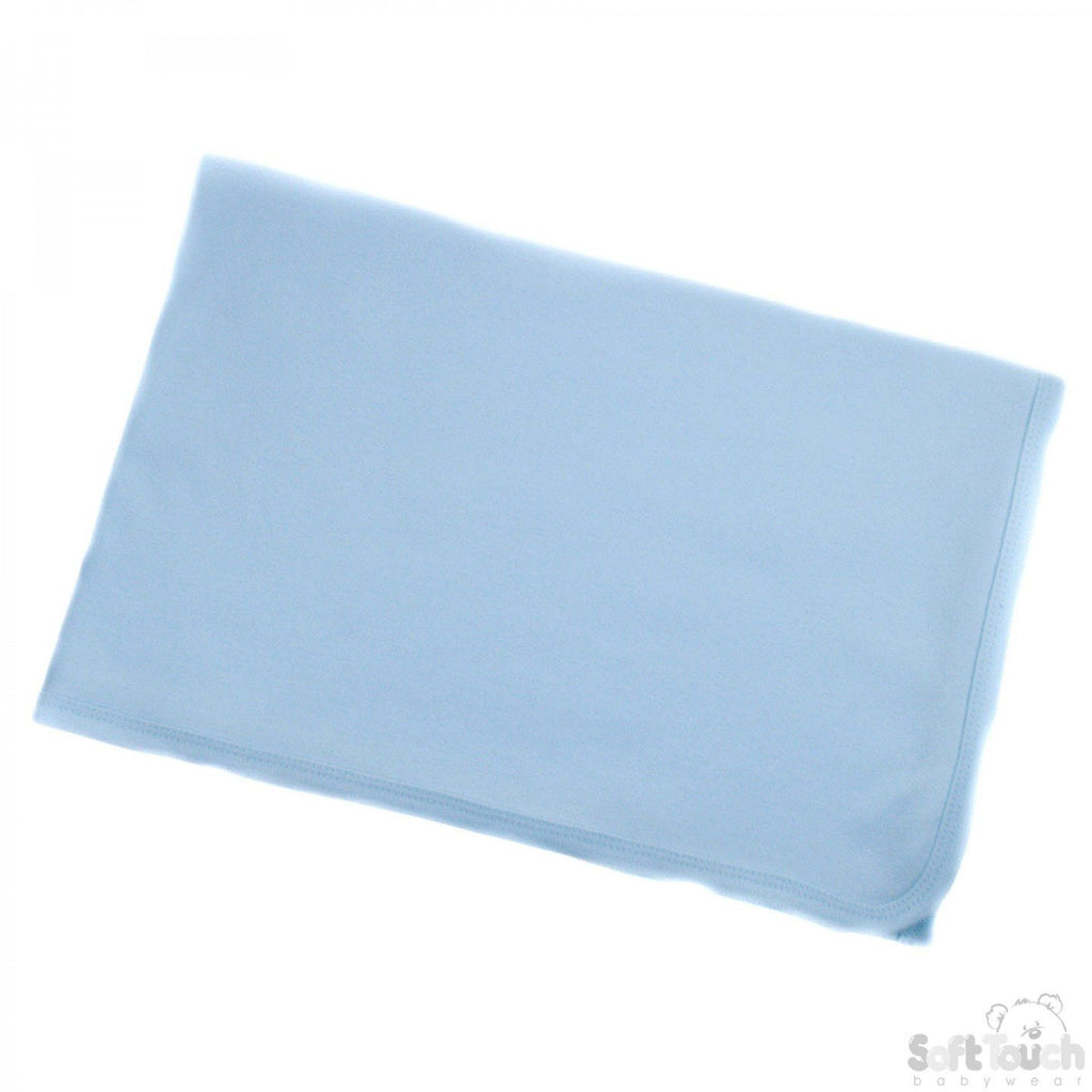 Infants Plain Cotton White Receiving Wrap (BW613-B)