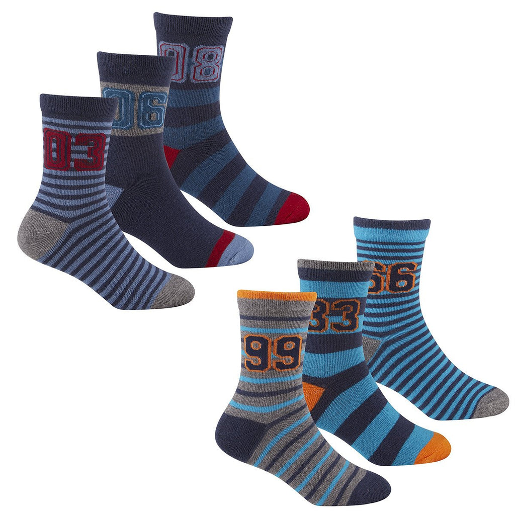 Boys 3 Pack Design Socks 42B474