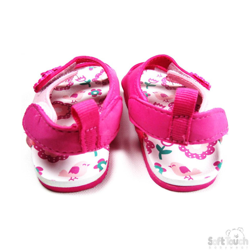 Pink Velcro Fastened Sandals-E72