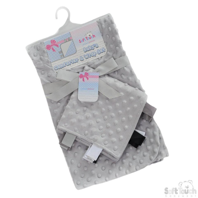 Grey Bubble Wrap W/Fleece Back & Matching Comforter FBP184-G - Kidswholesale.co.uk