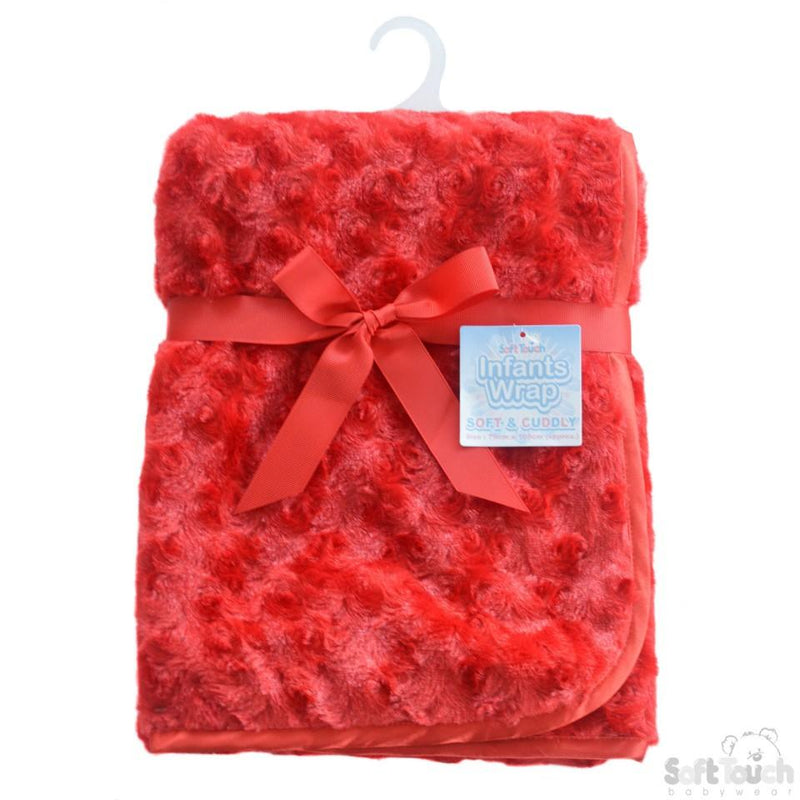 Red Rose PV Baby Fleece Wrap: FBP66-R - Kidswholesale.co.uk