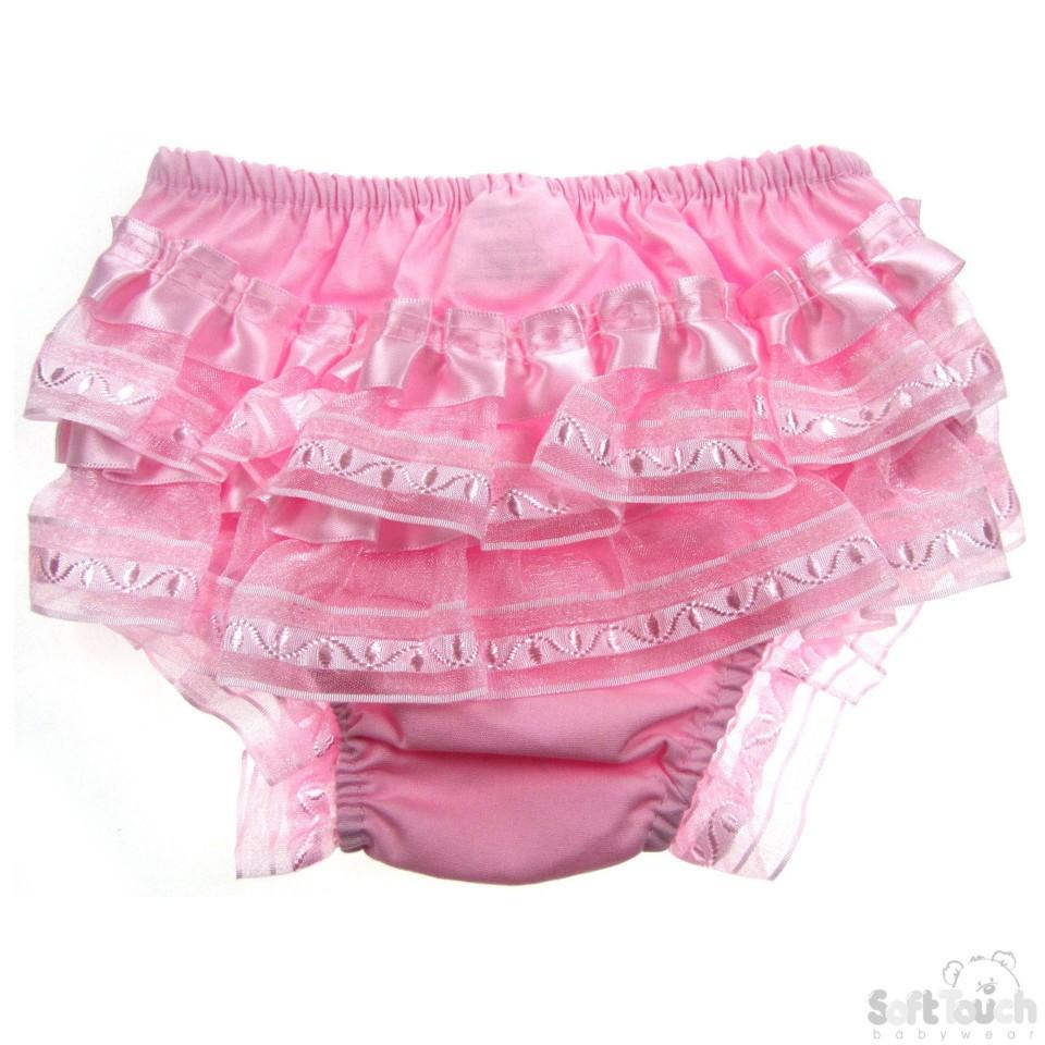 Cotton Frilly Pants - Pink - FP09-P